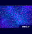 big data visual concept abstract technology vector image vector image