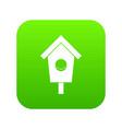 birdhouse icon digital green vector image