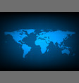 blue world map digital technology background vector image vector image
