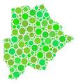 botswana map mosaic of dots vector image