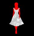 bridesmaid silk dress vector image vector image