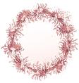 chrysanthemum grunge floral frame vector image vector image