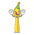 clown plastic kitchen spoon isolated on mascot vector image vector image