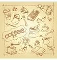 Coffee break doodles background vector image vector image