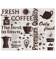 coffee shop logo coffee elements texture food vector image vector image