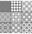 collection of black and white seamless patterns vector image vector image