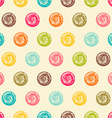 Color seamless grunge polka dots pattern vector image vector image
