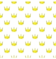 Crown pattern cartoon style vector image