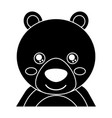 cute portrait bear animal baby with close eyes vector image