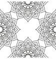 decorative floral monochrome mandala ethnicity vector image vector image