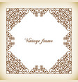 decorative square frame vintage style vector image vector image