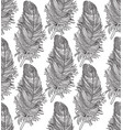 feather seamless pattern american native ornament vector image vector image