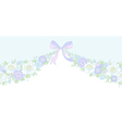 floral wedding garland vector image