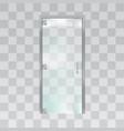 glass door isolated on grey background vector image