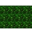 Green matrix digital binary code on dark vector image