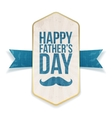 Happy Fathers Day Poster with greeting Ribbon vector image vector image