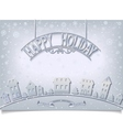 Holiday postcard with silver signboard greeting vector image vector image