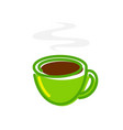 hot cup fresh tea - the vector image