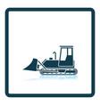 icon of construction bulldozer vector image vector image