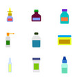 icon set with medicine bottles vector image vector image
