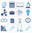 icons of a science and education vector image vector image