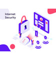 internet security isometric modern flat vector image