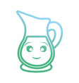 kawaii pitcher icon vector image