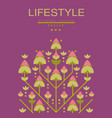 lifestyle poster original design ecological vector image vector image