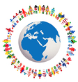 Live in peace conceptual with Earth Globe vector image vector image