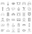 luxury hotel icons set outline style vector image vector image