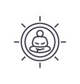 meditation pose linear icon sign symbol vector image vector image