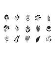 minimalist tattoo boho flowers floral decoration vector image vector image
