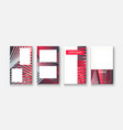 modern business geometric template banner vector image vector image