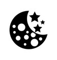 moon galaxy astronomy universe science vector image