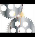 oiled gear wheels vector image