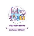 organized beliefs concept icon