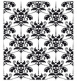 Pattern baroque with skulls vector image vector image