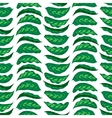 Pattern with bright green husta leaves vector image vector image