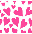 pink hearts seamless patter vector image vector image