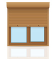 plastic window with rolling shutters 07 vector image vector image