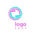 purple blue logo abstract concept a design vector image vector image