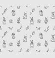 rabbits pets animal cabbage and carrots grayscale vector image
