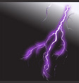 realistic lightning 2 vector image vector image