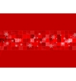 Red geometric Christmas background vector image vector image