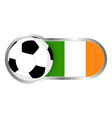 republic of ireland soccer icon vector image vector image