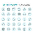 restaurant line icons vector image