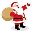 santa with presents vector image vector image