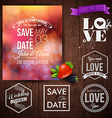 Save the date for personal holiday cards Wedding vector image vector image