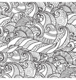 Seamless Pattern from waves vector image