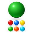 set bright colored balls vector image vector image